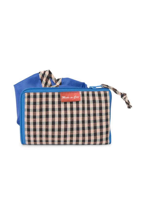 Blue folding bag