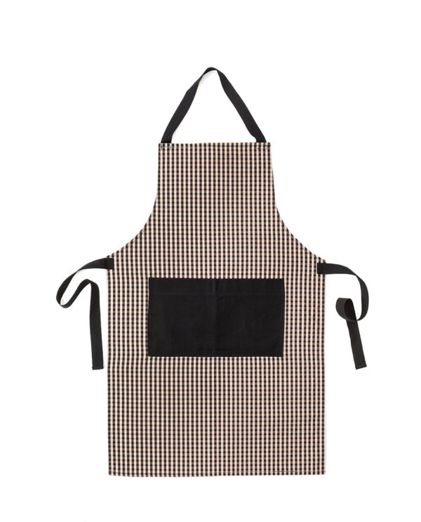 APRON BLACK POCKET